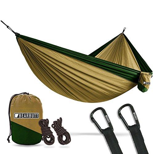 Bear Butt Double Parachute Hammock - Khaki / Dark Green