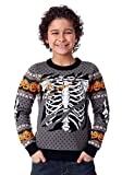 FUN Wear Child Ripped Open Skeleton Halloween Sweater Large