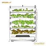 OPCOM Farm GrowWall (High Capacity, Hydroponics, indoor garden & farm, greenhouse,Growing herb, vegetable, flower, fruit)