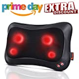 Back Massager Neck Massager Massage Pillow with Heating Function - 2 Keys Control with Net Cover Kneading Massager, Relieve Muscle Pains Soreness Fatigue at Home Office Car, Best Gifts for Parents