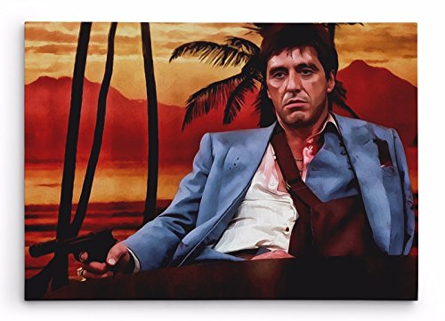 OneCanvas Al Pacino Scarface Premium Thick-Wrap Canvas Wall Art Print (32x48in.)