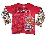 Ed Hardy Baby New York City Tattoo Swarovski Crystal Dbl Push up Seeve T Shirt (9/12 months)