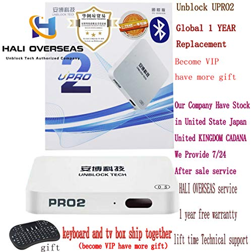 HALI Overseas Latests 2019 UBOX6 Model UPRO2 Unblock Tech TV Box I950 PRO2 UBox6 Gen6 Bluetooth Chinese HK Korea Taiwan Japanese Asian TV