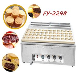 Hanchen Commercial Electrical Type 48 Hole Red Bean Cake Making Machine Wheel Cake Maker (220V) 51JA1qc 2BH5L