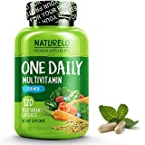 NATURELO One Daily Multivitamin for Men - with Whole Food Vitamins, Organic Extracts - Natural Supplement - Best for Energy, General Health - Non-GMO - 120 Capsules | 4 Month Supply