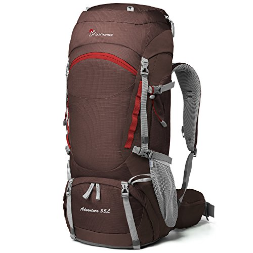 Mountaintop 50L/55L Hiking Backpack with Rain Cover