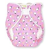 Rearz - Omutsu Bulky Fitted Nighttime Cloth Diaper (Pink - Sheep) (Medium/Large)