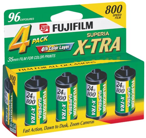 Fujifilm Superia 800 Speed 24 Exposure 35mm Film – 4 Pack
