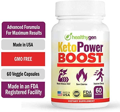 HEALTHYGEN KetoPower Boost Premium Keto Diet Pills - Boost Ketosis and Use Fat for Energy - Boost Energy & Focus, Manage Cravings, Support Metabolism - Keto BHB Supplement for Women and Men 5