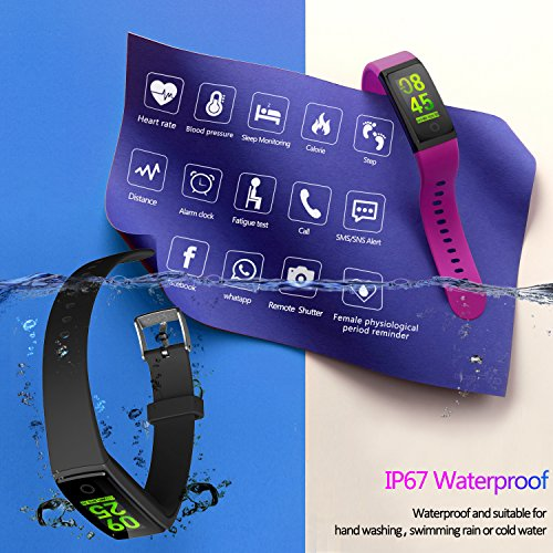 51JDMER6fQL - MorePro Waterproof Health Tracker, Fitness Tracker Color Screen Sport Smart Watch,Activity Tracker with Heart Rate Blood Pressure Calories Pedometer Sleep Monitor Call/SMS Remind for Women Men