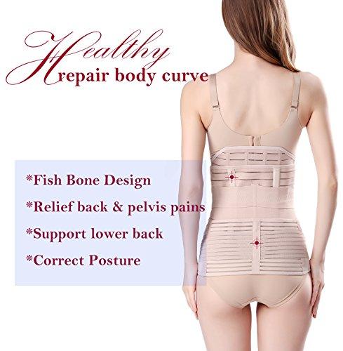 cf071980e5 3 in 1 Postpartum Support Recovery Belly Wrap Waist Pelvis Belt Body Shaper  Postnatal Shapewear