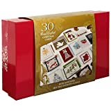 Paper Magic 30 Hand Crafted Christmas Cards with Matching Self-Seal Envelopes & Seals