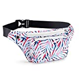 Kamo Fanny Pack, Waist Bag Sling Backpack Water Resistant Durable Polyester Small Outdoor Lightweight Crossbody Daypack for Women Men Lady Girl Teens