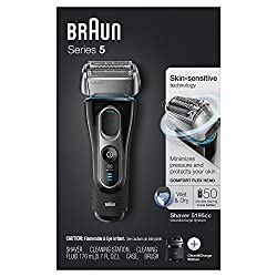 Braun Series 5 Men's Electric Foil Shaver with Wet & Dry Integrated Precision Trimmer & Rechargeable and Cordless Razor with Clean&Charge Station and Travel Case, 5195cc  Image 5