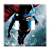Dual Toggle Wall Switch Cover Plate Decor Wallplate - Superman Returns