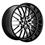 Konig Lace Black Wheel with Machined Face (16x7'/5x100mm)