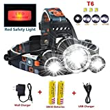 Headlamp,Brightest 12000 Lumen CREE LED Work Headlight,18650 USB Rechargeable Waterproof Flashlight with Zoomable Work Light,Head Lights for Camping,Running,Hiking,Best Christmas Gifts