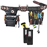 Occidental Leather 9596 Adjust-to-Fit Pro Electrician Tool Belt Set Bundle w/ (2) Pack 2003 Oxy Tool Shield (3 Pieces)