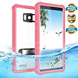 Samsung Galaxy S8 Plus Waterproof Case, Effun IP68 Certified Underwater Dustproof Snowproof Shockproof Case with Kick Stand, PH Test Paper and Floating Strap for Samsung S8 Plus (6.2inch) Pink