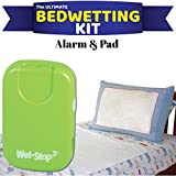 Wet-Stop3 Kit: Bedwetting Enuresis Alarm with Waterproof Bed Pad for Boys and Girls, Curing Bedwetting For Over 35 Years (Green)