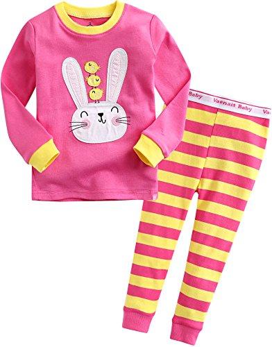 Baby Girls Easter Rabbit Bunny Sleepwear Pajama Set