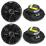 4) Kicker 41DSC654 D-Series 6.5' 480 Watt 2-Way 4-Ohm Car Audio Coaxial Speakers