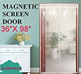 Transparent Magnetic Screen Door 36'×98'Curtain Prevent Air Conditioning Loss Help Saving Electricity & Money,Enjoy Warm Winter,Thermal and Insulated Auto Closer Door Curtain