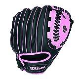 Wilson A200 10' Tee Ball Glove, Black/Pink - Right Hand Throw
