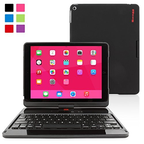 iPad Air and New iPad 2017 9.7' Keyboard, Snugg [Black] Wireless Bluetooth Keyboard Case Cover 360° degree Rotatable Keyboard for Apple iPad Air and New iPad 2017 9.7'
