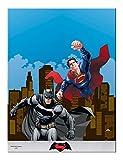 Plastic Batman Vs Superman Tablecloth, 1.8m x 1.2m