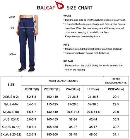 BALEAF Women's Track Pants Athletic Sports Sweat Pants Open Leg Jogger Sweatpants Zippered Pockets Lounge 7