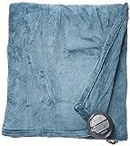 Sunbeam Heated Blanket   Microplush, 10 Heat Settings, Lagoon Blue, Twin , Heritage Blue - BSM9KTS-R531-16A00