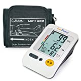 LotFancy Upper Arm Blood Pressure Monitor, 120 Memory, 4-User, Fully Automatic Blood Pressure Machine with Medium Cuff (8.6'-14'), Digital BP Monitor with Large LCD Display