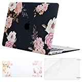 MOSISO MacBook Air 13 Case (A1369 & A1466, Older Version 2010-2017 Release), Plastic Flower Pattern Hard Shell&Keyboard Cover&Screen Protector Only Compatible MacBook Air 13 Inch, Peony Blossom