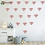 Superhero Diamond Logo Wall Decal Removable Kids Nursery Decor Wall Sticker Superman Boys Bedroom Vinyl Adesivo Wallpaper NY-388