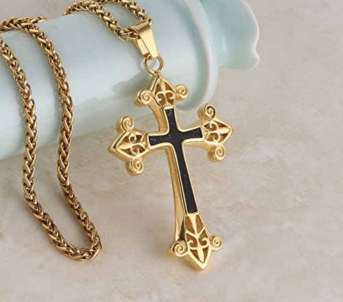 Hzman medieval knights templar stainless steel cross pendant aloadofball Image collections