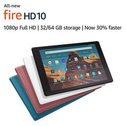 All-new Fire HD 10 Tablet | 10.1″ 1080p Full HD display, 32 GB, Black with Special Offers