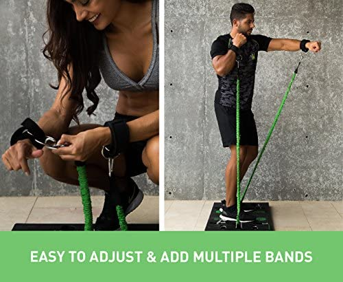 BodyBoss 2.0 - Full Portable Home Gym Workout Package + Resistance Bands - Collapsible Resistance Bar, Handles - Full Body Workouts for Home, Travel or Outside 6