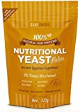 Pure Natural Non-fortified Nutritional Yeast Flakes (8 oz.) Whole Food Based Protein Powder, Vitamin B Complex, Beta-glucans and all 18 Amino Acids
