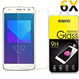 [6 Pack] KHAOS for Motorola Moto Z2 Play 9H HD Clear Anti-Scratch Tempered Glass Screen Protector Lifetime Replacement Warranty