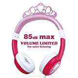 OneOdio Kids Safe Headphones - 85dB Volume Limited Headsets for Kids, Durable, Adjustable, Lightweight Headphones with 3.5mm Audio Jack, Christmas and Birthday Gift for Children and Girls. (Pink)