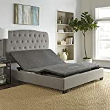 Boyd Sleep Zero Clearance Upholstered Adjustable Bed Base Foundation with Wireless Remote, Queen