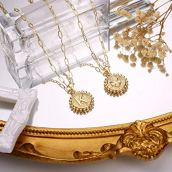 14K Gold Plated Dainty Layering Paperclip Link Chain Necklace