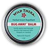 Wild Thera Herbal Insect Repellent Bug Balm. DEET-Free. Repel Mosquitos, Gnats, Ants & Bugs. Proven Herbs for Skin Protection & moisturizer. Works with Bug Spray, Off, Bug Bracelet and Bug Zapper.