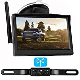 LeeKooLuu Digital Wireless Backup Camera System for Car/RV/Truck/Van/Trailer/Pickup with 5''Monitor Rear/Side/Front View Camera Continuous/Reverse Night Vision IP69 Waterproof Guide Lines On/Off