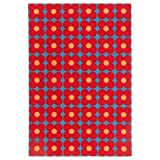 IKEA ASIA SOMMAR 2019 Door mat Small Flowers Blue red (15.7x23.6 inch) 40x60 cm