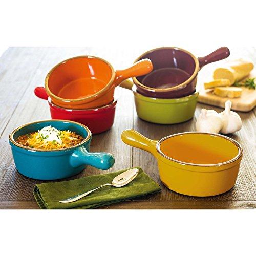 Handled Stoneware Soup Bowls - Set of 6