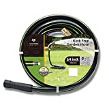 3/4'' 100ft. No-Kink Tested Home & Contractor Approved Garden Hose 12 Year Warranty | Extremely High Water Pressure with Solid Brass Fittings - Landscape Approved - Extremely Durable Hose