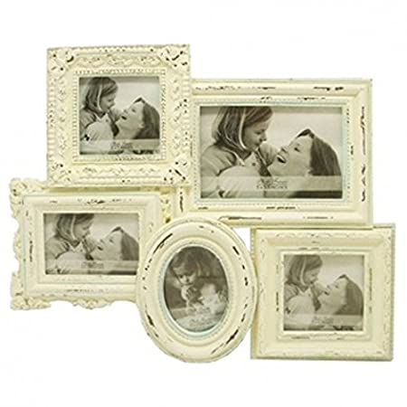 Vintage Look Shabby Chic Cream Multi Photo Frame   Siteframes.co