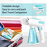 Steamer for Clothes Mini Portable 1200W Powerful Garment Steamer Clothing Handheld Fabric Steam Iron Wrinkle Remover Cleaner Fast Heat-up Auto-Off 100% Safety High Capacity for Home and Travel (White)
